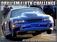 Joe Newsham Launching at The Drill-em 1/8th Mile Challenge At Atco Raceway, A Trial Race In The Southern Style Outlaw Format