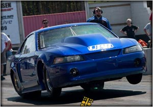 The Outlaw 10.5 Cobra Of Joe Newsham Jumping Off To A Points Lead, Photo Courtesy Of GoneDragRacing.com